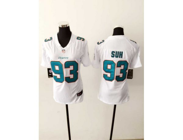 Womens Miami Dolphins 93 SUH White 2015 New Nike Jerseys