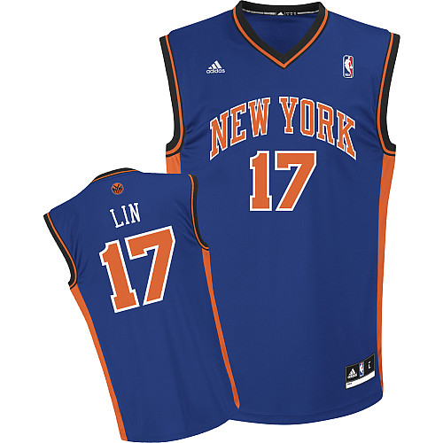 Adidas New York Knicks17 Jeremy_Lin_Revolution_30_Road Swingman blue Jersey