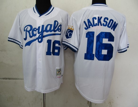 MLB Jerseys Kansas Royals 16 Jackson White