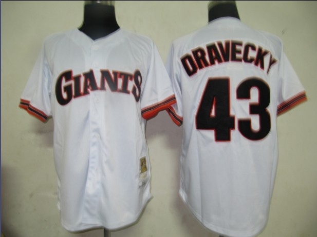 San Francisco Giants 43 Dave Dravecky White M&N MLB Jersey