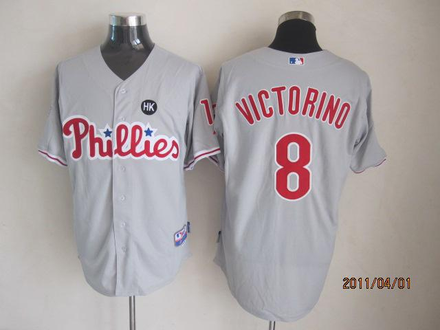 Philadelphia Phillies 8 Shane Victorino grey MLB Jerseys