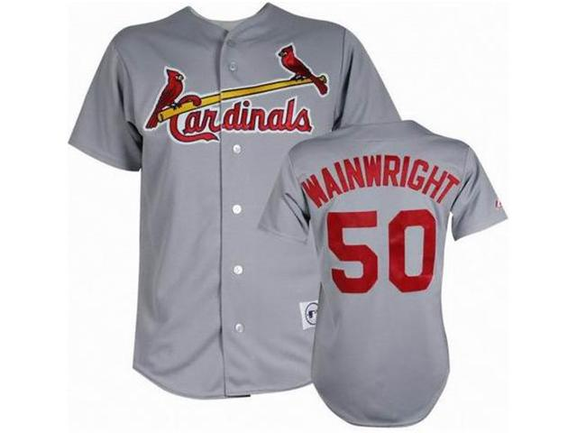 St.Louis Cardinals 50 Wainwright grey MLB Jerseys