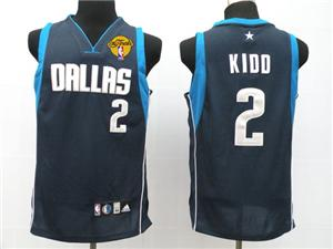 Dallas Mavericks 2 Kidd dark blue jersey 2011 nba finals