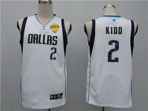 Dallas Mavericks 2 Kidd white jersey 2011 nba finals