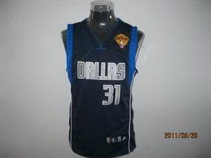 Dallas Mavericks 31 Jason Terry Road blue with 2011 Finals Jersey