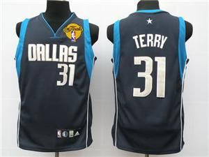 Dallas Mavericks 31 Terry dark blue jersey 2011 nba finals