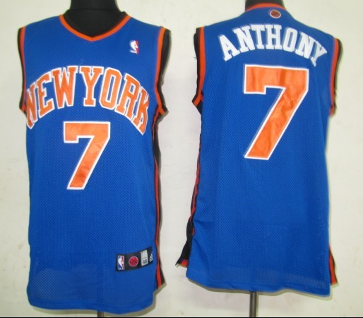 New York Knicks 7 Anthony Blue NBA Jerseys