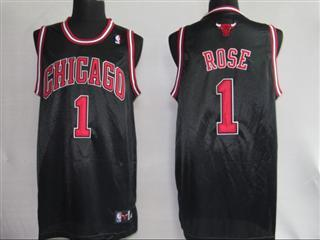 chicago bulls 1 rose black jersey