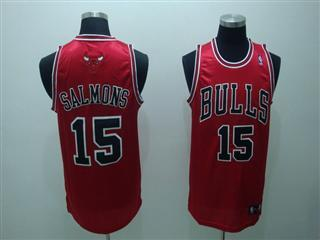 chicago bulls 15 salmons red jersey