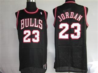 chicago bulls 23 jordan black jersey