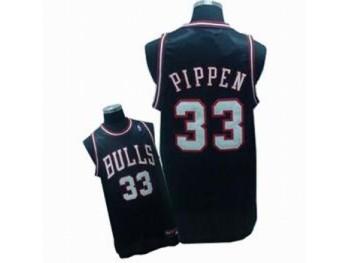 Chicago Bulls 33 Scottie Pippen Black Jersey