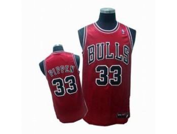 Chicago Bulls 33 Scottie Pippen Red Jersey