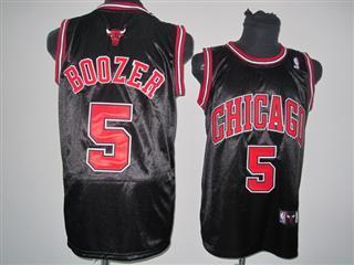 chicago bulls 5 boozer black jersey