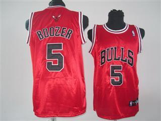 chicago bulls 5 boozer red jersey