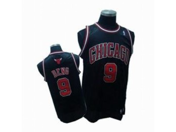 Chicago Bulls 9 Luol Deng Black Jersey