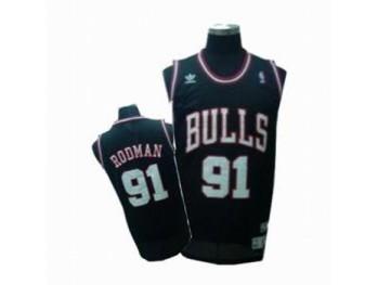 Chicago Bulls 91 Dennis Rodman Black Jersey