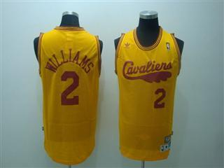 cleveland Cavaliers 2 williams yellow jersey