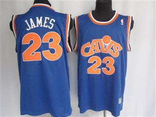 cleveland Cavaliers 23 james blue m n red number jersey