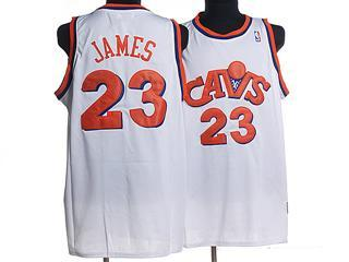 cleveland Cavaliers 23 james white m n jersey