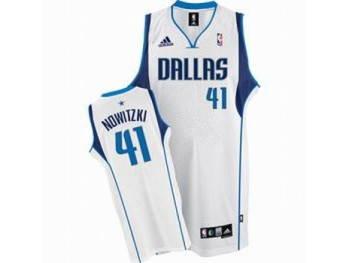 Dallas Mavericks 41 Dirk Nowitzki White Jersey