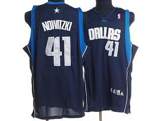 dallas maverlcks 41 nowitzki dark blue jersey