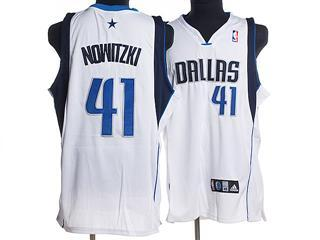 dallas maverlcks 41 nowitzki white jersey