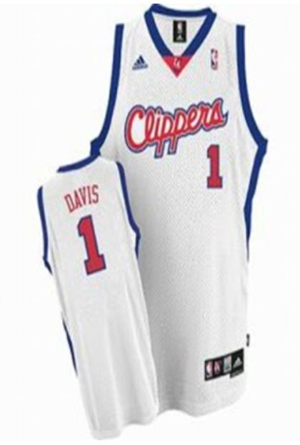 Los Angeles Clippers 1 Baron Davis White Jersey
