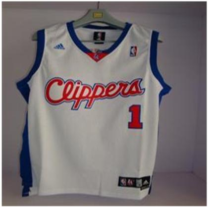 Los Angeles Clippers 1 DAVIS WHITE Jersey