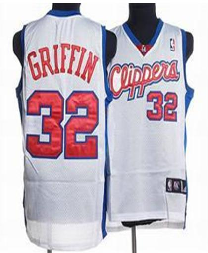 Los Angeles Clippers 32 GRIFFIN WHITE Jersey
