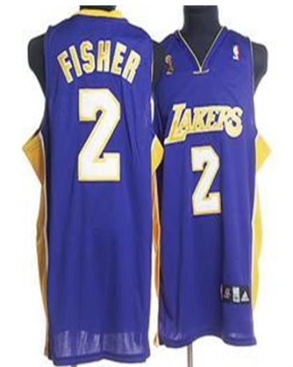 Los Angeles Lakers 2 Fisher purple Jersey