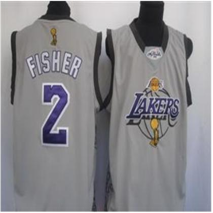 Los Angeles Lakers 2 Fisher Grey Jersey