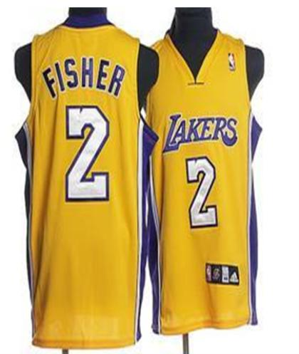 Los Angeles Lakers 2 Fisher Yellow Jersey