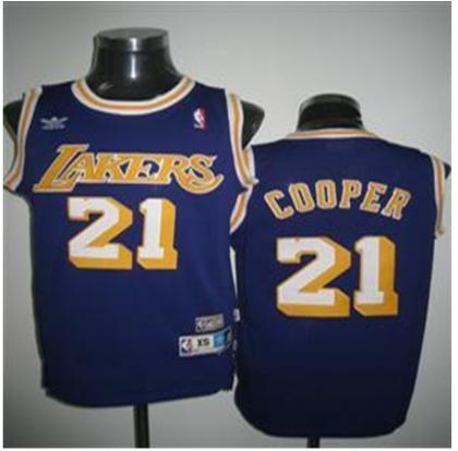 Los Angeles Lakers 21 Cooper purple Jersey
