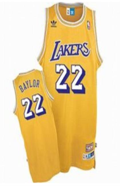 Los Angeles Lakers 22 Elgin Baylor Yellow Jersey