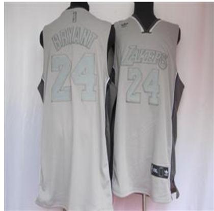 Los Angeles Lakers 24 Bryant Grey Jersey