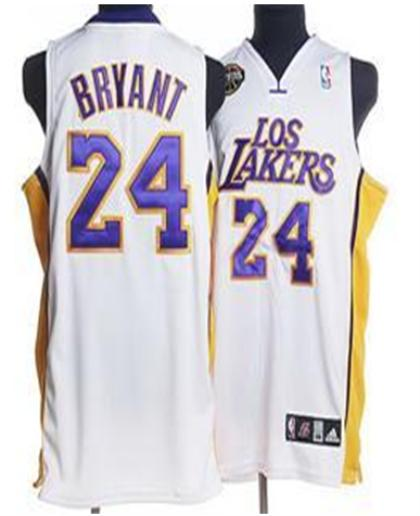 Los Angeles Lakers 24 Byrant White Jersey With Purple Number