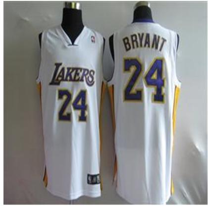 Los Angeles Lakers 24 Kobe Bryant white Jersey