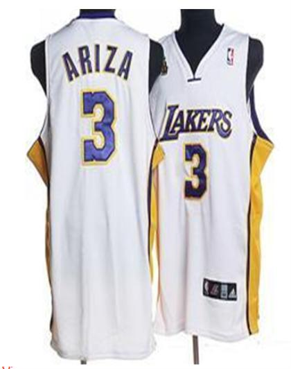Los Angeles Lakers 3 Ariza White Jersey