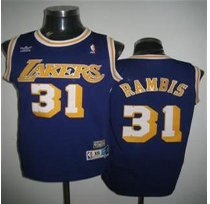 Los Angeles Lakers 31 Rambis purple Jersey