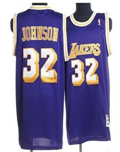 Los Angeles Lakers 32 Johnson purple Jersey