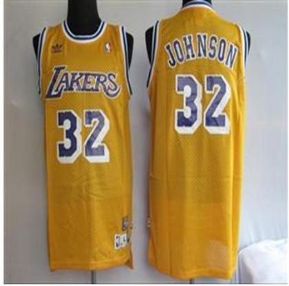 Los Angeles Lakers 32 Johnson Orange Swingman Jersey