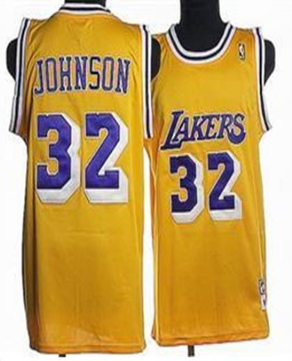 Los Angeles Lakers 32 Johnson Yellow Jersey