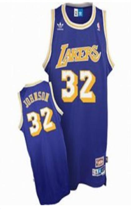 Los Angeles Lakers 32 Magic Johnson Purple Jersey