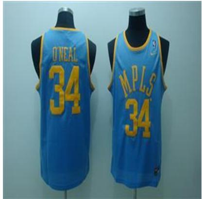 Los Angeles Lakers 34 Oneal Light Blue Jersey