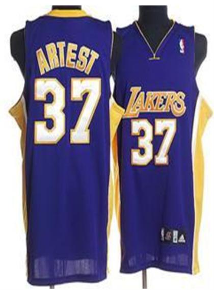Los Angeles Lakers 37 Artest Blue Jersey