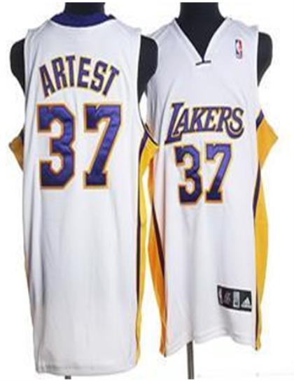 Los Angeles Lakers 37 Artest White Jersey