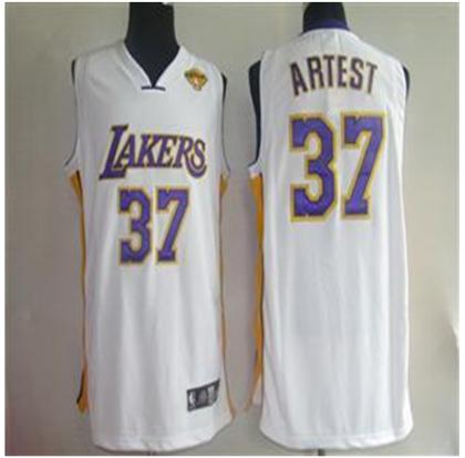 Los Angeles Lakers 37 Artest white Jerseys