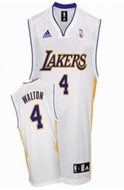 Los Angeles Lakers 4 Luke Walton White Jersey