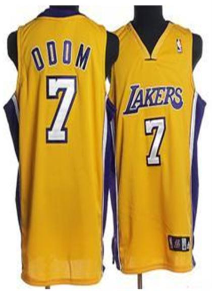 Los Angeles Lakers 7 Odom Yellow Jersey
