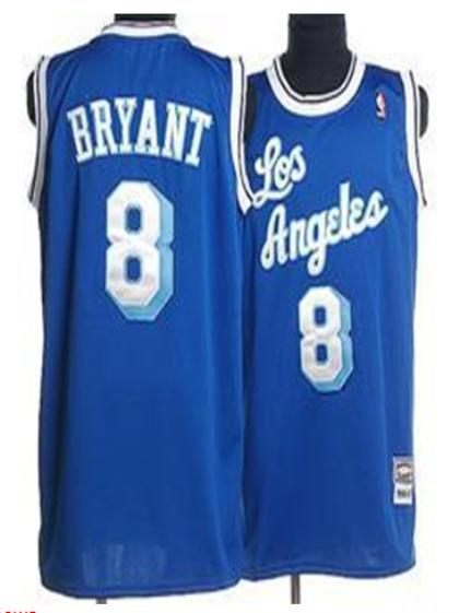 Los Angeles Lakers 8 Bryant Azure blue Jersey